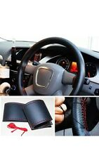 Universal Car Steering Wheel Cover With Needles and Red Thread-London