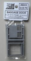 3 PANEL BAGGAGE DOOR w FRAME HO 1:87 SCALE LAYOUT DIORAMA TICHY TRAINS 8053