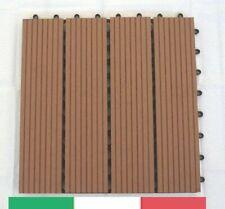 Campione Piastrelle Wpc pavimento per esterno - Marrone chiaro Terrazzo Giardino