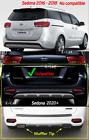 DIY Dual Muffler Tip Silver 2Pcs Rear Left/Right Free EMS for KIA Sedona 2020+