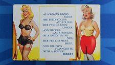 Risque Bamforth Comic Postcard 1950s Nylons Stockings Garter Panties Knickers