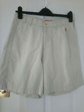 CREAM GOLF/WALKING SHORTS 100% COTTON WITH REAR POCKET SIZE 10