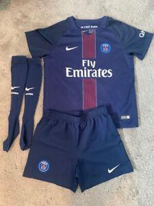 Original PSG Football Shirt (full kits), NEYMAR 10, Youth 5-6yrs old