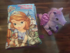 girls SOFIA THE FIRST disney princess PLUSH BOOK story STUFFED MINIMUS toy lot