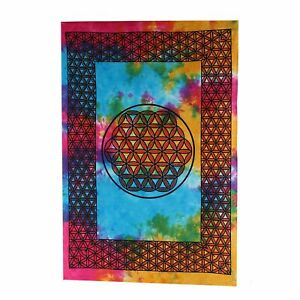 Wall Hanging Flower of Life Decorative Cloth Poster Approx. 41 5/16x28 11/16in