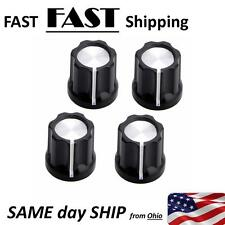 4 PACK --- Replacement KNOB 6mm shaft - musical equipment & audio video equip.