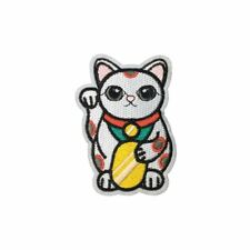 Chinese Cat (Iron On) Embroidery Applique Patch Sew Iron Badge