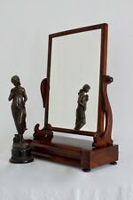 Mirror Large 2.6 ft High Victorian Antique Swing Mirror c1890 Vintage - Delivery
