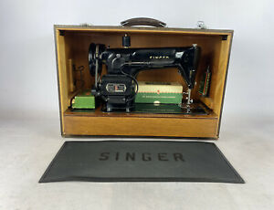 Singer 201k Electric Sewing Machine Pedal Mat Accessories Carry Case