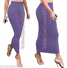 WOMENS Tight Slimming bodycon Casual Club Tube Tunic Maxi Long SkirtS Dress 2XL