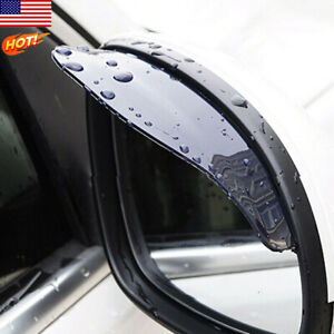 2Pcs Rear View Side Mirror Rain Board Eyebrow Guard Sun Visor Car Accessories