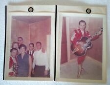2 Photos of Little Jimmy Dickens Color w/group Nudie Suit Unpublished Vintage