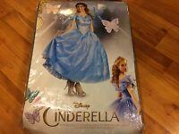 NEW Disney Cinderella Princess DRESS SIZE S 4-6 Disguise Prestige Adult Costume