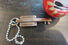 """FOSSIL Handbag Replacement Key Fob Metal Bronze Color 2 & 1/8"""" w/ chain"""