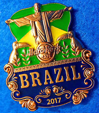 BRAZIL 3D CUT OFF SERIES 2017 RIO *CHRIST REDEEMER STATUE* Hard Rock Cafe PIN