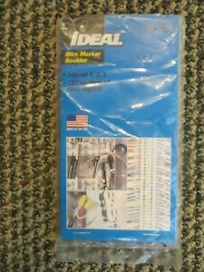 NEW - IDEAL 44-105 WIRE MARKER BOOKLET, LEGEND #1, 2, 3, 150 Each