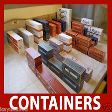 N Scale, N Gauge Model Shipping Container Card Kits x 12 Mixed 40ft/45ft