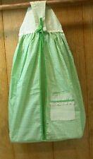 "Judi-S Heirloom Diaper Stacker ~ 20"" W x 26"" L x 8"" D ~ Green & White Checked"