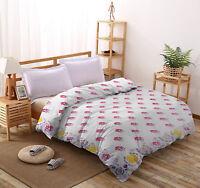 Floral Duvet Doona Quilt Cover Queen Size Bed Throw Indian 100%Cotton Blanket
