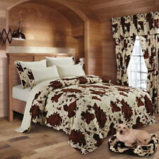 7 Pc Queen Cream Rodeo Set! Comforter, sheets, and pillowcases chocolate cream