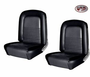 1967 Mustang BLACK Front Bucket Seat Upholstery by TMI -SHIPS FREE!!