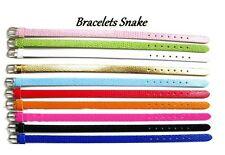 LOT 50 Bracelet Snake 8mm style peau de serpent imitation cuir synthétique NEUF