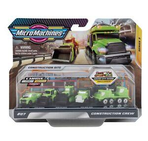 MicroMachines World-Pack Serie 3 #07 Baustellen-Crew (5 grüne Fahrzeuge)