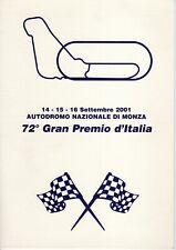 GP D'ITALIA F1 MONZA 2001 FOLDER 1° GIORNO EMISSIONE CON TRE CARTOLINE - 490