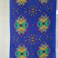 """Elaine Gold Collection XXIX Silk Long Scarf Hand Rolled Striking Colors 51x10"""""""