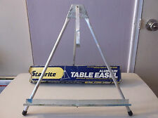 VINTAGE STANRITE TABLETOP ALUMINUM EASEL / DISPLAY--FOLDING / TRAVEL--WITH BOX