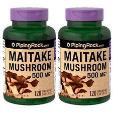 Piping Rock Maitake Mushroom Extract 500mg 2X120 Capsules  (Grifola frondosa)