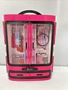 Barbie Fashionista Ultimate Closet 2015 Hot Pink Portable Carry Case Storage