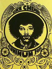 Vintage Velvet Black Light Poster Jimi Hendrix Katz Like Chewing Aluminum Foil