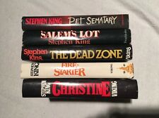 5 Stephen King 1st Book Club Editions PET SEMATARY SALEM'S LOT CHRISTINE DEAD Z