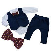 Boys Elegant 4 Pcs SET Waistcoat Trousers Shirt Bow Special Occasions Wedding
