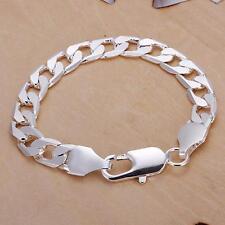 Bracelet, Gourmette Plaqué Argent 925eme Mixte Homme/ Femme