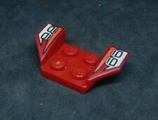 Lego Plate Car Mudguard 4x2 Swept, Print: '66' + White [41854pb01] - Dark Red x1