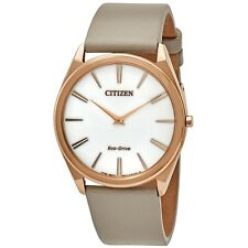 Ladies 'Citizen Eco-Drive Stiletto RELOJ en tono Rosa Dorado AR3076-08A