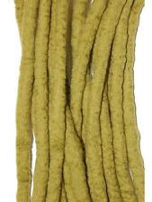Olive Green Dreadlocks - 16 Handmade felted merino wool double ended dreads