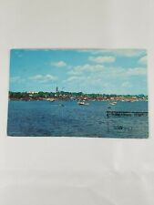 Vintage Collectible Sept 1973 MARBLEHEAD MASSACHUSETTS HARBOR Postcard 6c Stamp