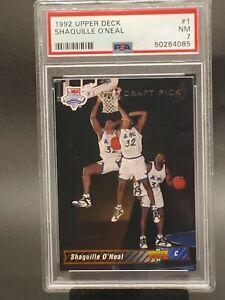 1992 upper deck shaquille o'neal 1 PSA 7 shaq rookie card