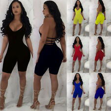 3b54220078a Jumpsuit Party Trousers Sleeveless V-Neck Women Romper Bodycon Playsuit  Clubwear