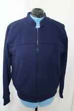 Vintage Montgomery Ward Navy Blue Knit Fur Lined Zip Up Jacket Men's L