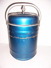 """VINTAGE LARGE METAL FOOD THERMOS COOLER CONTAINER CANISTER 13"""" TALL X 9"""" DIA"""