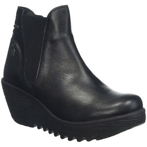Fly London YAZO528FLY Leather Wedge Casual Ankle Womens Boots