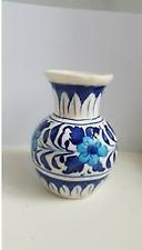 Handmade Blue & White Flowers Ceramic Vase