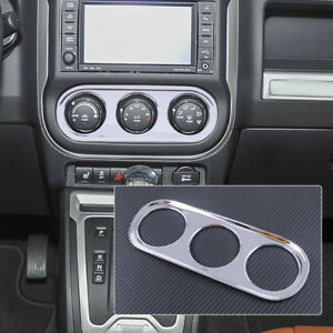 Chrome Car Air Condition Switch Cover Trim Frame fit for Jeep Compass 2011-2016