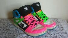 DC Rebound Hi Women's Multi-Color Lace Up High Top Skateboarding Sneaker Size 10