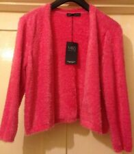 Ladies sz14 M&S Collection Stunning Pink Bolero with Super Soft Yarn BNWT