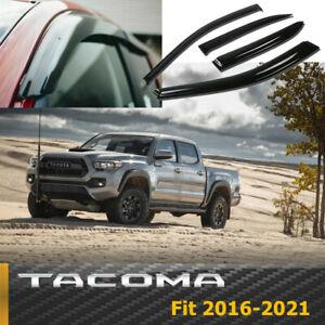 Fits TOYOTA TACOMA 2016-2021 Double Cab Rain Guard Window Visors Door Deflectors